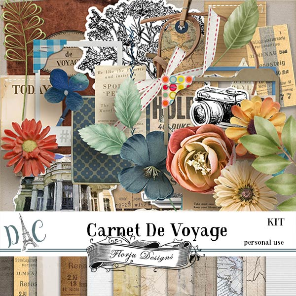 Carnet de Voyage { Kit PU } by Florju Designs