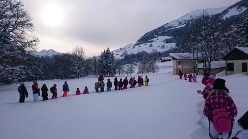 Une journée pleine de neige