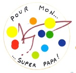 "Badge pour ""super papa"""