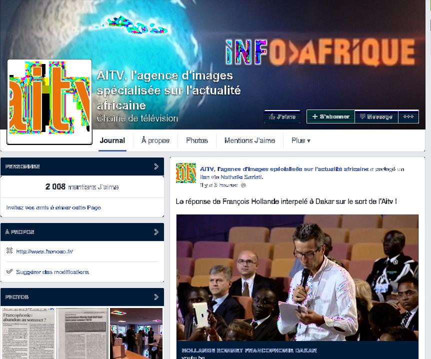 FERMETURE DE L'AITV, agence de presse (filiale de France 2) spécialisée dans l'actualité africaine