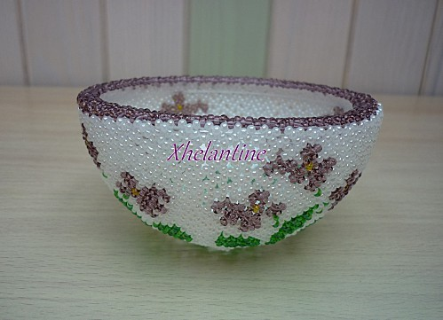 coupelle avec violettes 1