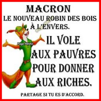 L'humour du mercredi c'est aussi pour tous les français.
