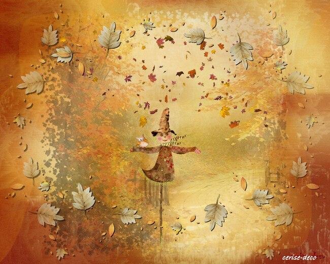 design automne pluvieux