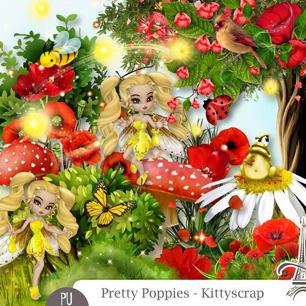 PRETTY POPPIES by Kitty Scrap