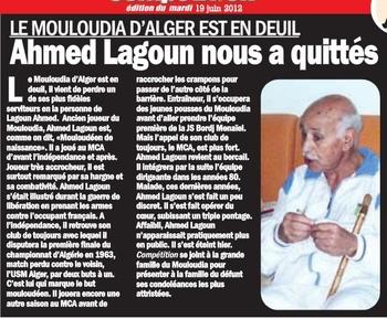 Lundi 18.6.2012 LAGOUN AHMED EST MORT