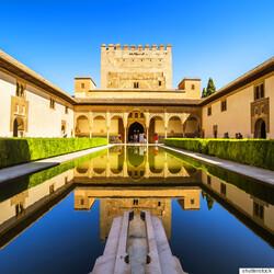 La cité palatine de l'Alhambra, en Espagne
