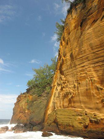 Le cap jaune, une bizarrerie géologique à la Réunion