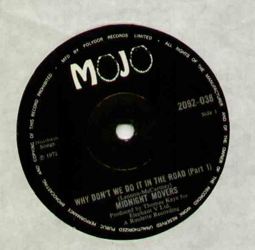 1972 : Single SP Mojo Records 2092 038 [ UK ]