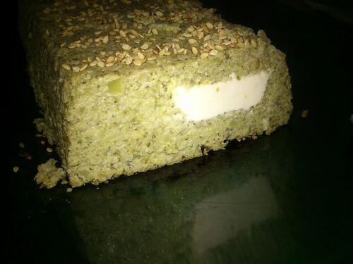 terrine de Brocolis au sésame et fromage fondu