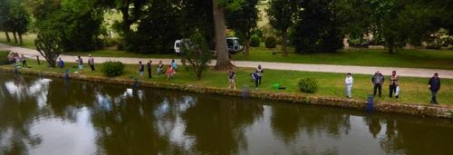 Animation pêche avec les élèves du collège Jean Joudiou.