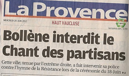 Le Chant des Partisans interdit !