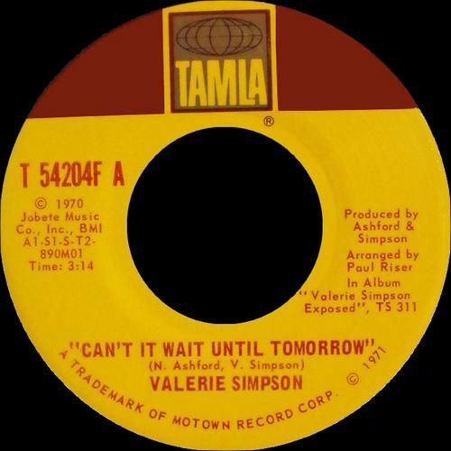 """Valerie Simpson : Album """" Valerie Simpson Exposed """" Tamla Records TS311 [ US ]"""