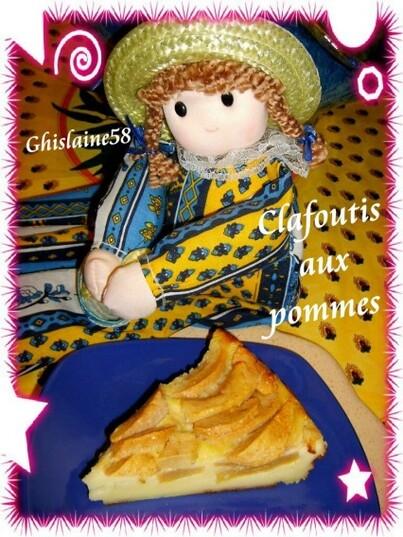 Clafoutis aux pommes - 2ème