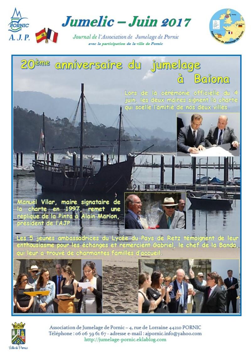 20ème anniversaire du jumelage à Baiona