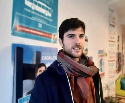 Pierre-Yves Cadalen, tête de liste « Brest à venir » aux élections municipales de mars 2020, a recueilli 7 % des suffrages.