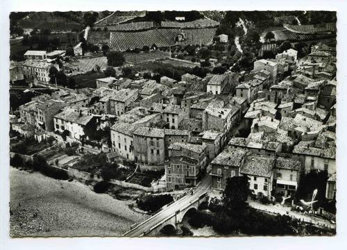 —- Saillans - vue aérienne du bourg années 1950 - 1970 - image/photo pouvant être protégée par Copyright ou autre —-