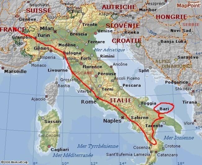 L' Italie et les Pouilles