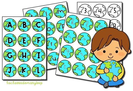 Alphabet planète Terre - Jour de la Terre