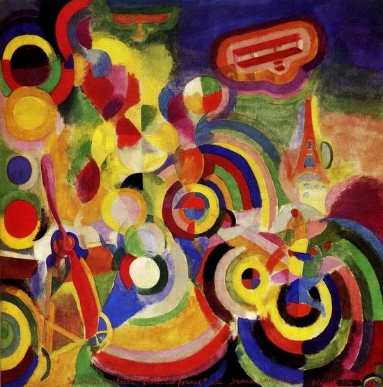 Robert Delaunay, Hommage à Bleriot, 1914