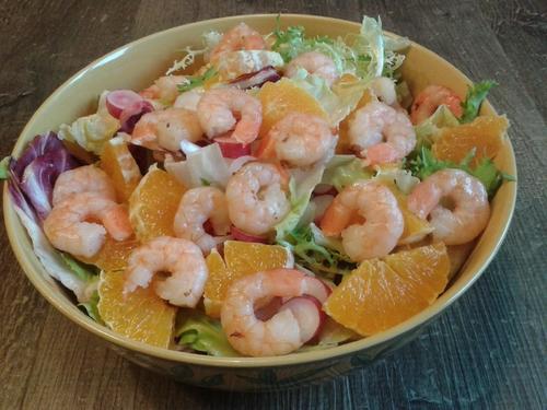 Salade orange-crevette