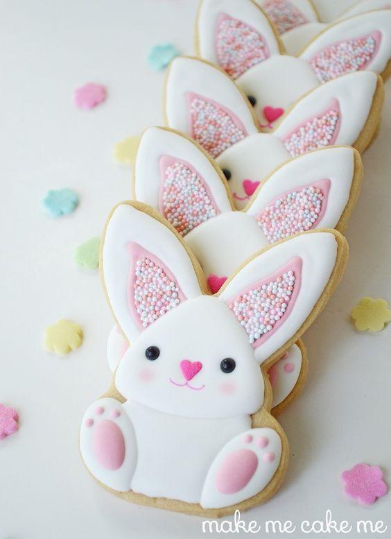 sablé décorés lapins: