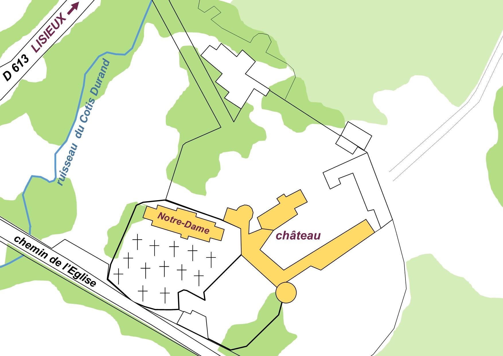 Plan De Situation Du Chateau La Houblonniere Blason Famille Tournebu A Laquelle Le Aurait Appartenu Par Apn