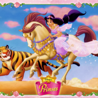 fond d 39 cran jasmine sur son cheval nouveau magic disney princesses. Black Bedroom Furniture Sets. Home Design Ideas
