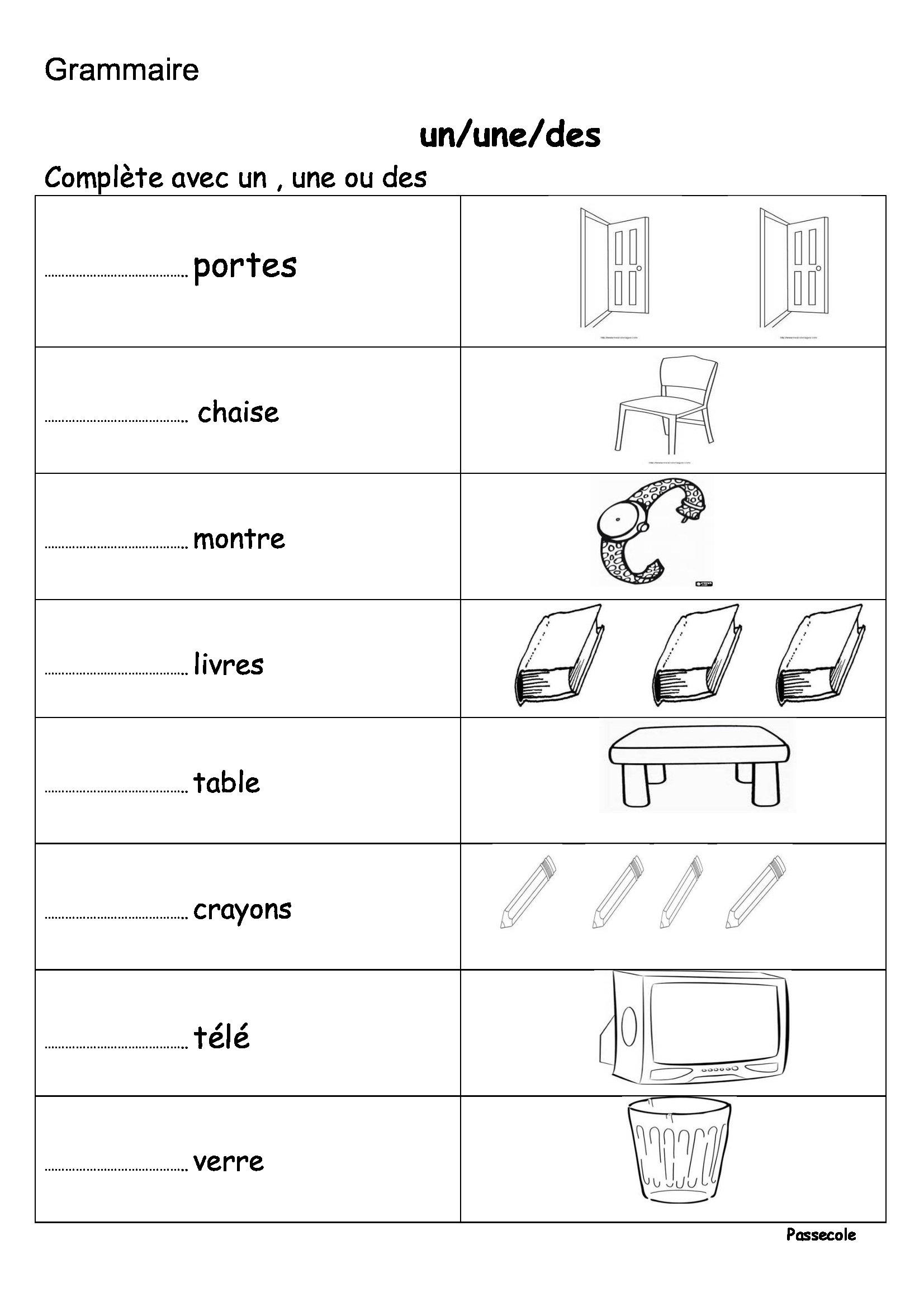 tude le la langue cp cycle 2 le la un une ce cette. Black Bedroom Furniture Sets. Home Design Ideas