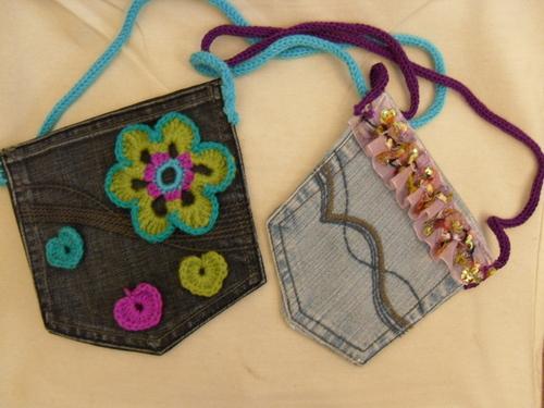 Pochettes jean et crochet