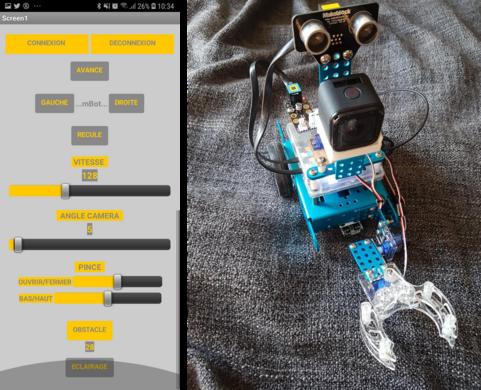 Mon projet de troisième 2018-2019 - Un robot explorateur autour du mBot