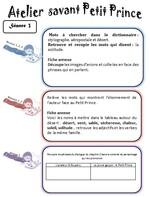 séance 4: la planète du Petit Prince