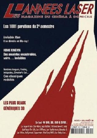 """Les Années Laser N° 275 juillet / Août 2020 """"Magazine Cinéma"""""""