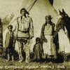 Lone Walking Buffalo (aka Jonas Benjamin) and his family in Alberta - Assiniboine (Stoney) - 1906