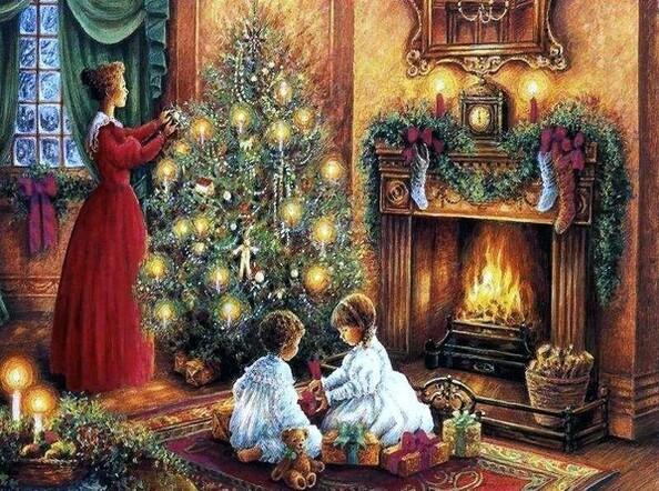 L'arbre de Noël.