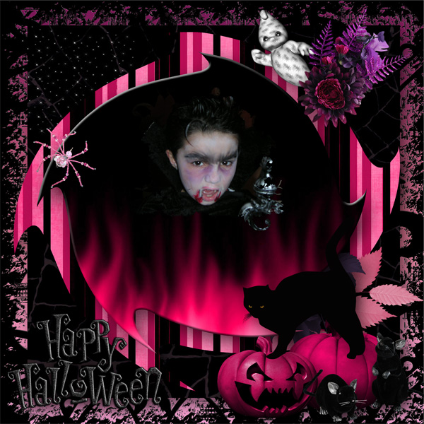 Psychedelic halloween une collaboration de Desclics, Josycréations et Baby