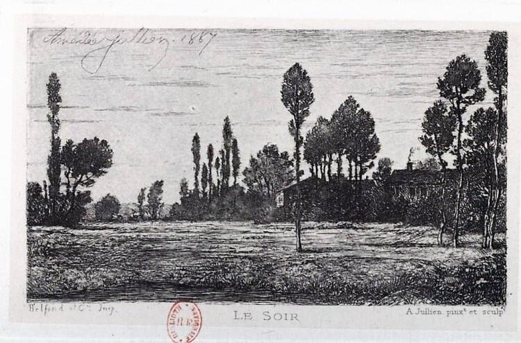 Amédée Jullien : Le Soir (gravure d. 1887)