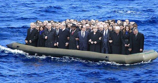 """un peu d'humour avec """"On est tous heureux en France"""""""