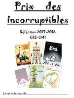 Incorruptibles 2018: le livret des élèves