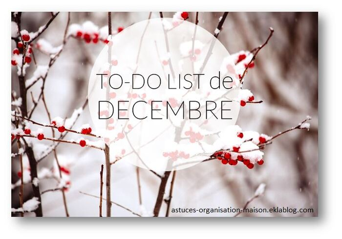 ✿ Ma to-do list de décembre