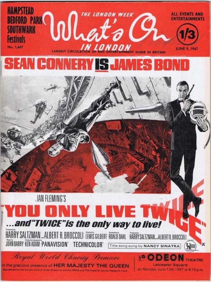 ON NE VIT QUE DEUX FOIS - BOX OFFICE SEAN CONNERY 1967