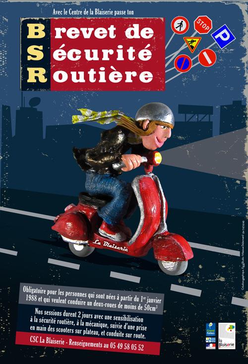 Affiche pour le Brevet de sécurité routière - BLAISERIE