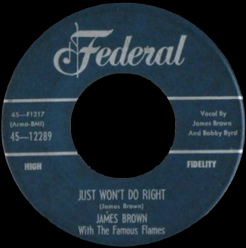 1956 James Brown With The Famous Flames Federal Records 45-12289 [ US ]