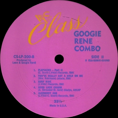 "Googie René Combo : "" Flapjacks "" Class Record LP-200 [ US ]"