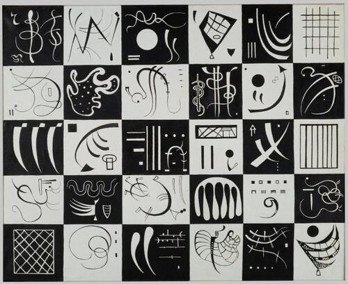 """ATC d'après """"Trente"""" de Vassily Kandinsky"""