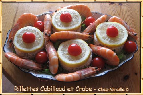 Rillettes de Cabillaud et de Crabe