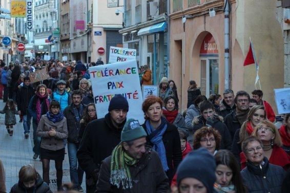 3000 personnes dans une mobilisation citoyenne inédite à Crest © Julien Gontard