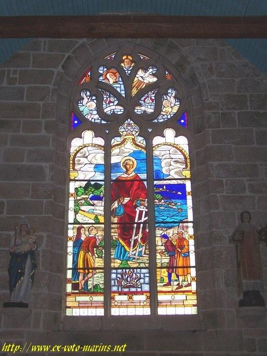 Bretagne_Morbihan , Ploemel , chapelle St Laurent-56800