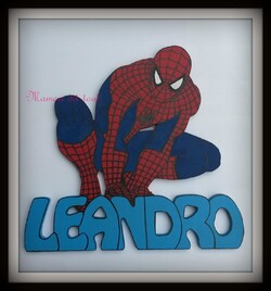 plaque de porte spiderman