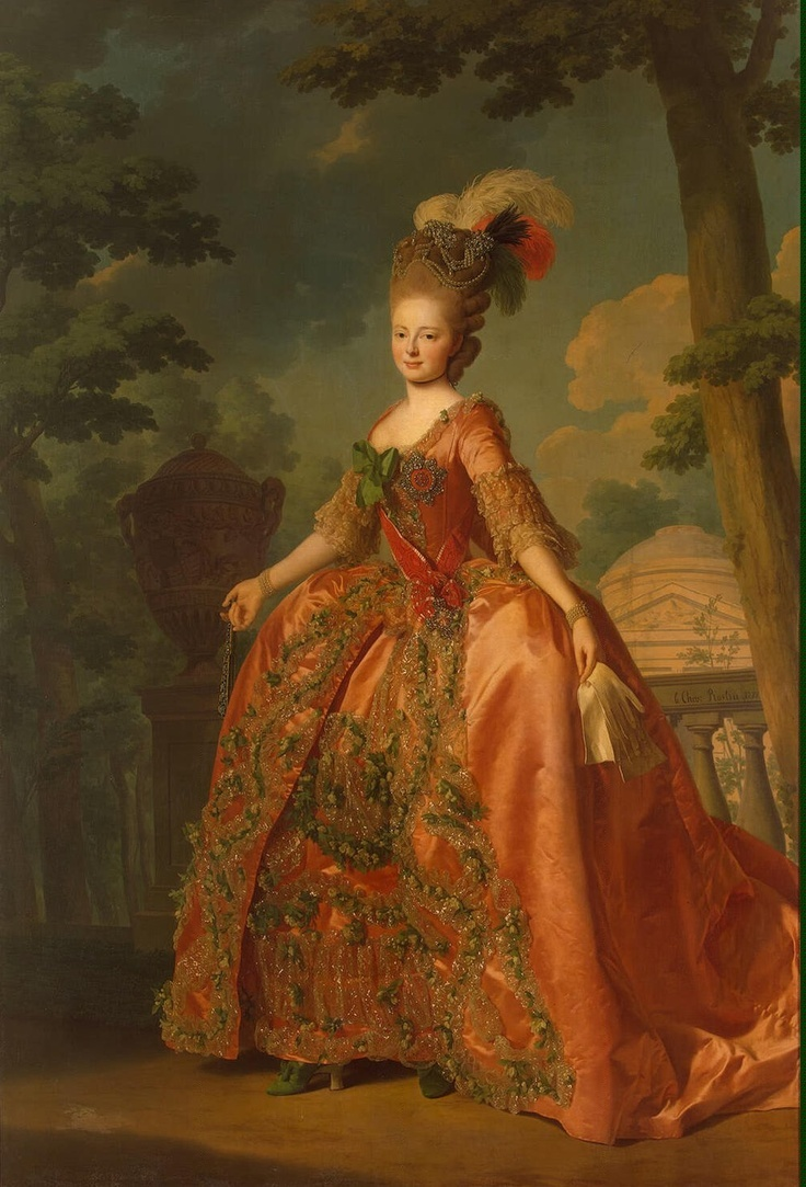 Portrait of Grand Duchess Maria Fiodorovna at the age of 18, 1777