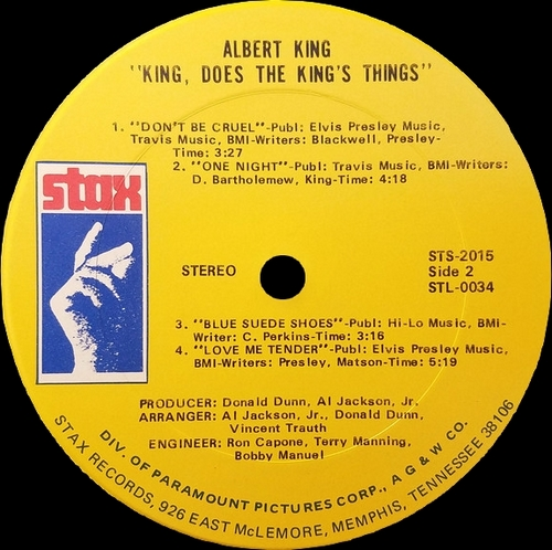 "Albert King : Album "" King Does The King's Things "" Stax Records STS-2015 [ US ]"